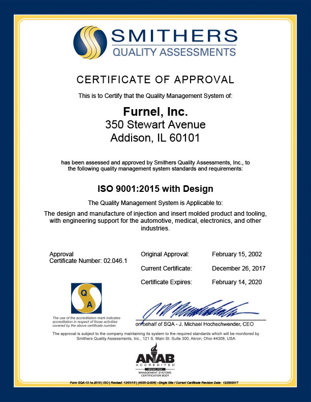 ISO Certification 9001:2008 Certified with Design